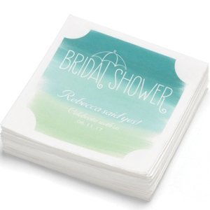 Green Ombre Personalized Beverage Napkins (Pack of 100) image