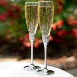 Romanesque Wedding Flute Glasses