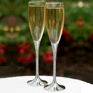 Zippered Elegance Champagne Toasting Glasses image