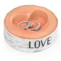 Rustic Love Wedding Ring Bowl