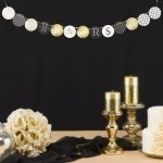 Golden Elegance Mr. & Mrs. Wedding Banner