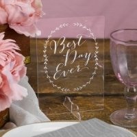 Rustic Vines Best Day Ever Sign