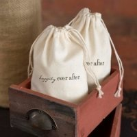 Happily Ever After Cotton Wedding Favor Bags