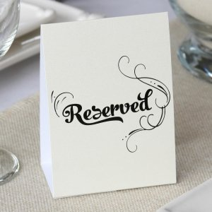 Reserved Table Tents (Set of 10) image