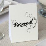 Reserved Table Tents (Set of 10)