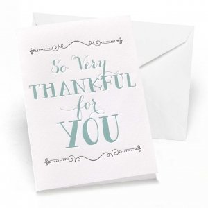 So Very Thankful Thank You Note Cards (Set of 50) image