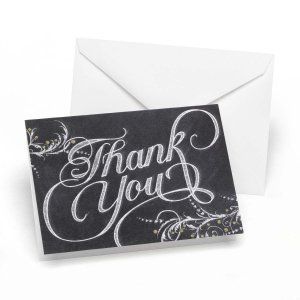 Whimsical Chalkboard Thank You Cards (Set of 50) image