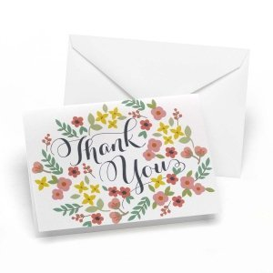 Retro Floral Thank You Notes (Set of 50) image