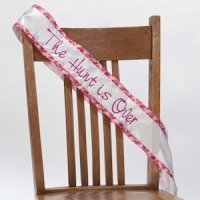 The Hunt is Over Pink Camo Bachelorette Party Sash