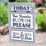 Two Become One Wedding Yard Sign