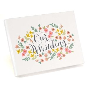 Retro Floral Wedding Guest Book image