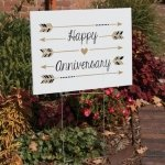 Happy Anniversary Yard Sign