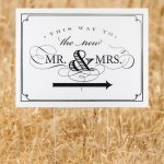 Golden Elegance Mr. & Mrs. Yard Sign