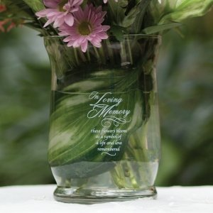In Loving Memory Glass Vase image