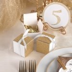 Gold Gliter Wrap Favor Box (Set of 25)