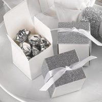 Silver Gliter Wrap Favor Box (Set of 25)
