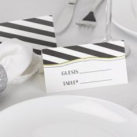 Stripes Galore Place Card (Set of 25)