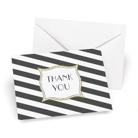 Stripes Galore Thank You Cards (Set of 50)