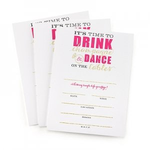 Champagne Dance Bachelorette Party Invitations (Set of 25) image