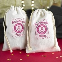 Hangover Kit Cotton Bag Bachelorette Party Favors (Set of 12