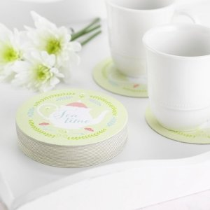 Tea Time Bridal Shower Coasters image