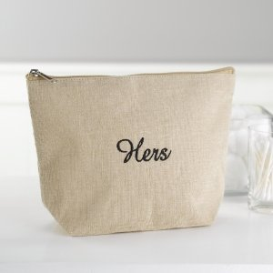 Hers Jute Cosmetic Bag image
