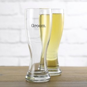 Groom's Wedding Party Pilsners (4 Designs) image