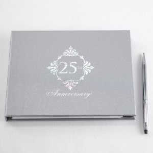 Silver Anniversary Guest Book - Blank image