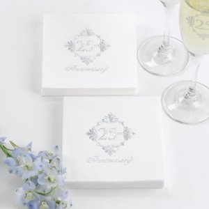 Silver Anniversary Napkins image