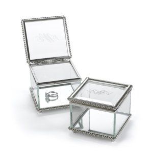 Custom Vintage Glass Ring Box image