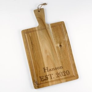 Custom Wood Handle Cutting Board image