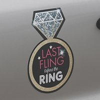 Last Fling Repositionable Bachelorette Party Cling