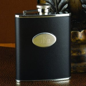 Personalized Black Flask (6oz or 8oz) image