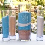 Engraved Initial Sand Ceremony Cylinder