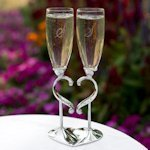 Linked Love Wedding Toast Glasses