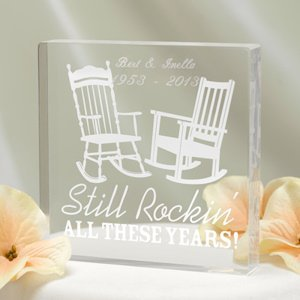 Still Rockin' Anniversary Cake Topper (Personalized Option) image