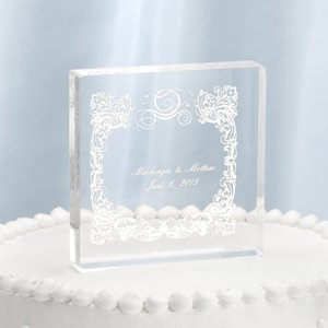 Happly Ever After Personalized Cake Top image