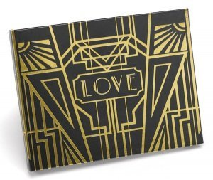 Personalized Art Deco Guest Book (Gold or Silver) image