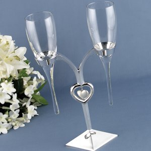Raindrop Flutes with Silver Holder (Personalized Option) image
