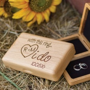 I Do Personalized Wedding Ring Box for Ceremony image
