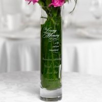 In Loving Memory Personalized Bud Vase