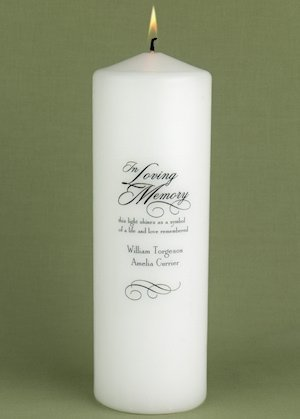 Personalized Wedding Memorial Candle image