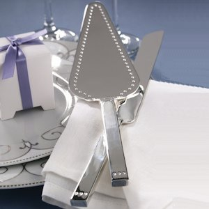 Dotted Contemporary Cake Serving Set image