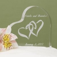 Entwined Heart Acrylic Cake Top