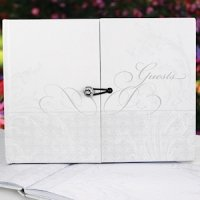 Gatefold Large Wedding Guest Book (up to 1000 signatures)