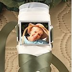 Silver Bouquet Photo Buckle