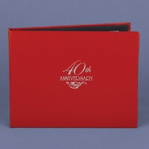 Ruby 40th Wedding Anniversary Guest Book image