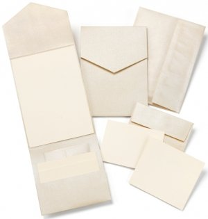 Champagne Shimmer DIY Pocket Invitation Kit (Set of 25) image
