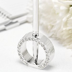 Jeweled Ring Wedding Pen Stand image