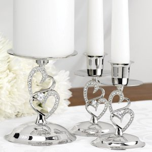 Sparkling Love Candle Stand Set image